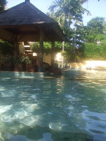 Rare Angon Villas: the larger Villas complex pool, shallow area for kids too.