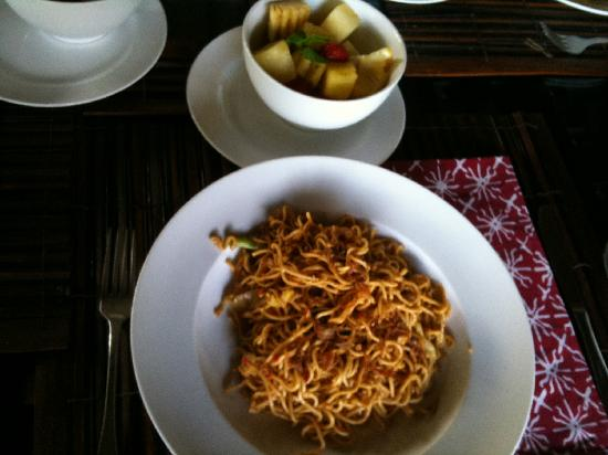 The Ulin Villas & Spa: one of the menu
