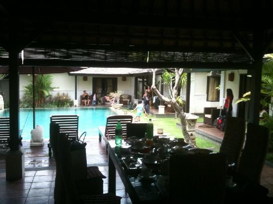 The Ulin Villas & Spa: the view of our Three Bedrooms Villa