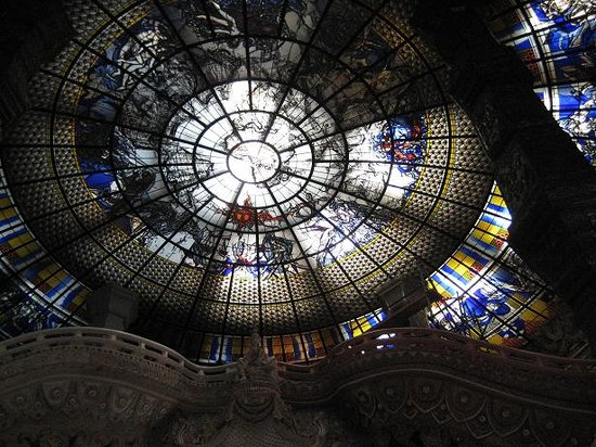 Erawan Museum: 天井のステンドグラス