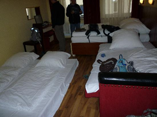 Hotel Verdi: our room sey up for Oktoberfest group