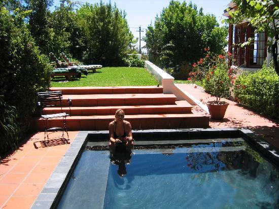 Acorn House: pool und sonnenwiese direkt unterm tafelberg
