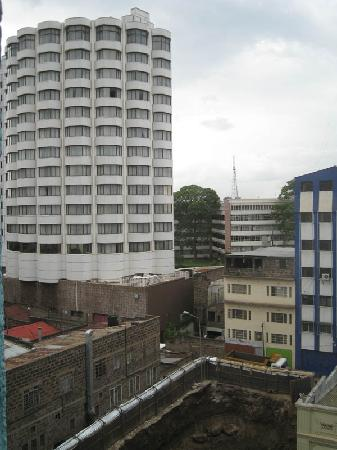 Kenya Comfort Hotel: View from my sixth floor room, looking onto Uni of Nairobi. The building being constructed is th