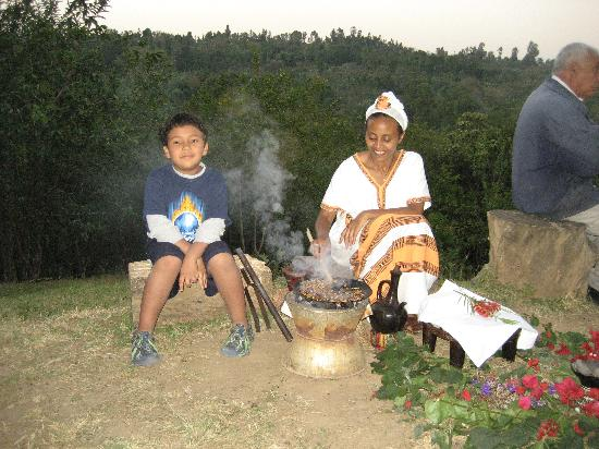 Irgalem, Etiopia: My Son at Coffe Ceremony