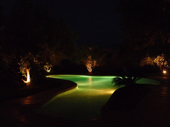 Dar Tougga: Piscine de nuit