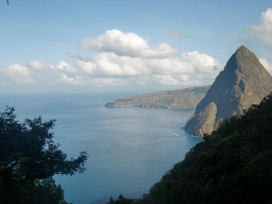 Pitons : View from the top