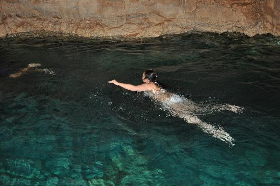 Grand Fiesta Americana Coral Beach Cancun: swimming in the cenotes www.alltournative.com