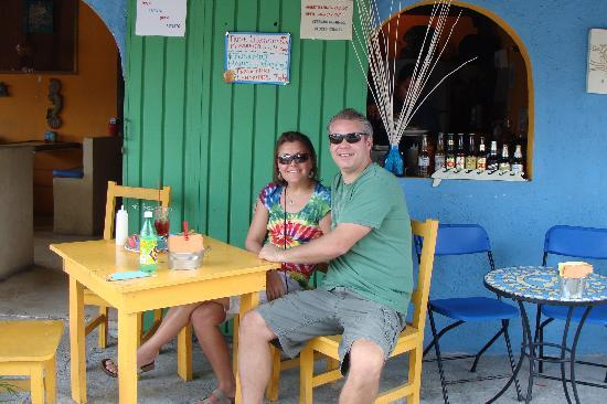 Posada Luna del Sur: Brian & I at a local restaurant recommended by Sarah & Marty. Great food!!