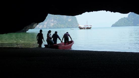 Thalang District, Thailand: Looking out of the cave