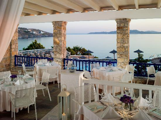‪‪Mykonos Grand Hotel & Resort‬: Dolphins of Delos Restaurant‬