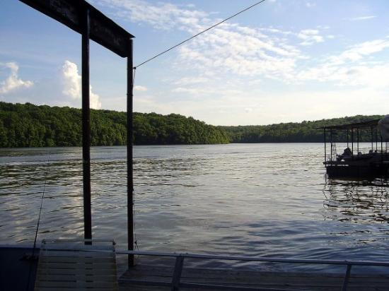 Edwards, MO: The view up towards the creek from our dock!