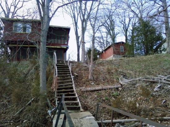 Edwards, MO: A view of our house from the dock...early spring 2009!