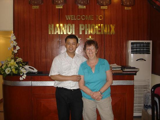 Hanoi Phoenix Hotel: Kelvin, can't do without him!