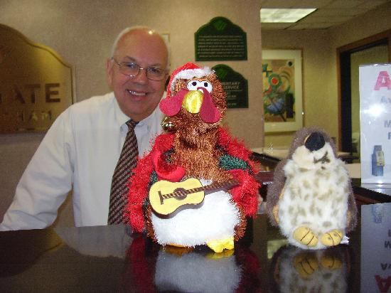Wingate by Wyndham Tampa / USF: Wingate Manager, The Christmas Chicken & The Christmas Hawk