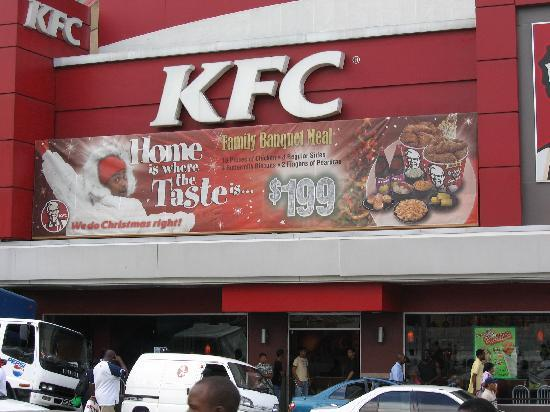 Independence Square: The KFC sells more chicken than any other in the world