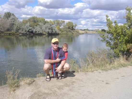 Casper, WY: Russell Marusak and Campbell on the Platte River, WY - Cam almost 4