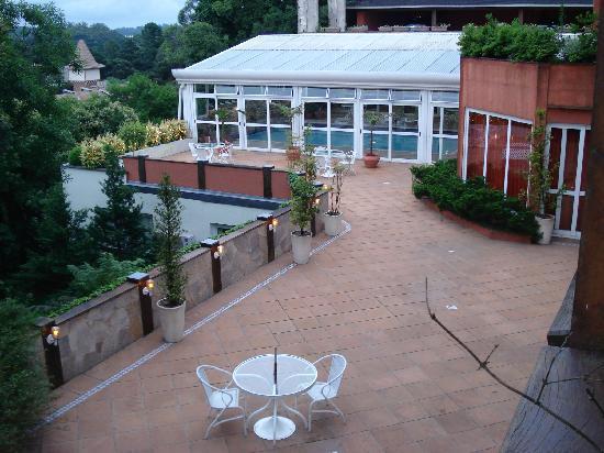 Boutique Hotel Varanda das Bromelias : Vista da nossa varanda