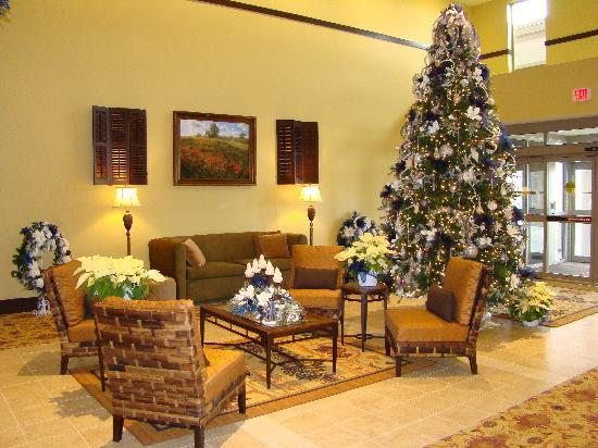 BEST WESTERN PLUS University Park Inn & Suites: love the blue and white Christmas!