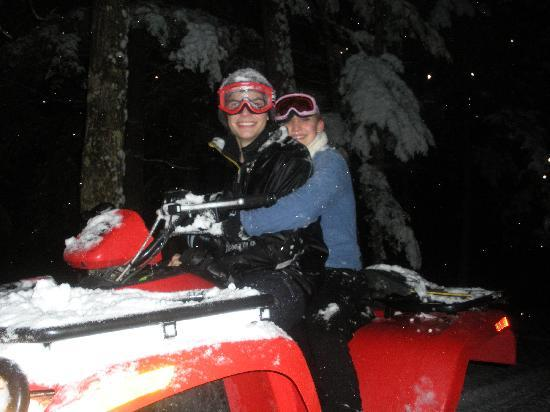 Wilson Lake Inn: ATVing around Wilson Lake in Winter