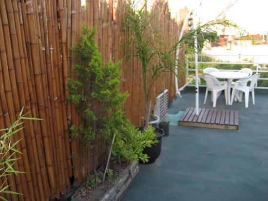 Apart Tgc Inn: Duplex 505 Violett:Kleiner Teil der Dachterasse