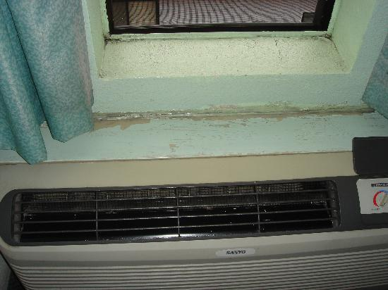 Pacific Inn Santa Cruz: Mold around heater