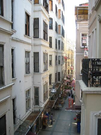 Chambers of the Boheme : View from the balcony of our room
