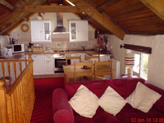 Fox Park Farm Cottages : Inside of Hayloft
