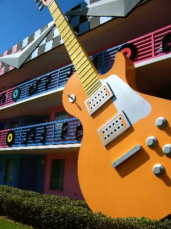 Disney's All-Star Music Resort: Exterior of one of the hotel plazas