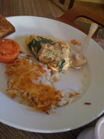 Renaissance Austin Hotel: Egg White Omelette...huge, but amazing.