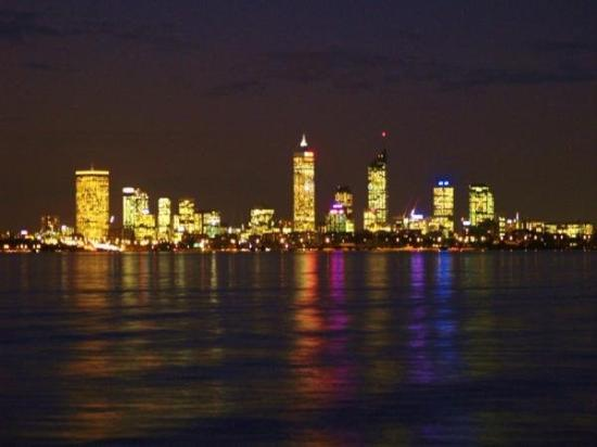 Perth, City by night from Applecross