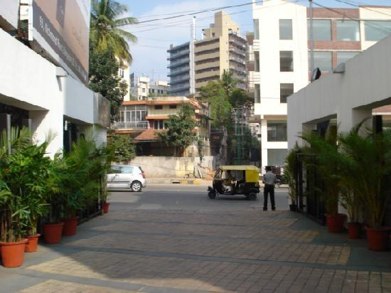 The Pride Hotel: approach road of pride, Bangalore