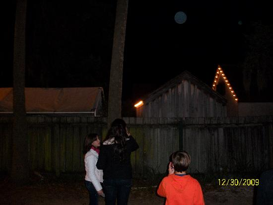 Haunted St. Augustine Paranormal Investigative Tour: Giant orb at the spanish courtyard.