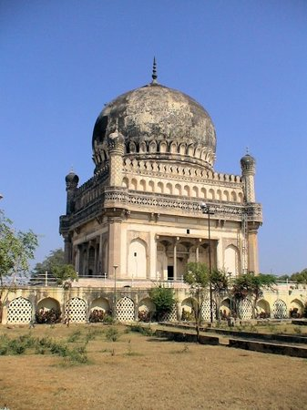 Hyderabad, India: The Qutub Shahi kings are buried in marvellous tombs. The Tombs are onion-domed structures built