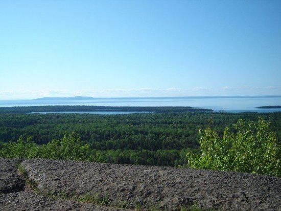 Isle Royale National Park, Μίσιγκαν: The View From Mt. Franklin, Looking into the Amygdlyoid Channel