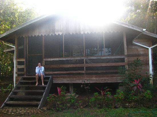 Moonracer Farm Lodging & Tours: Premier matin dans les marches de ma cabane!