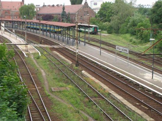 Stacja Opole Główne z perspektywy południowowschodniej