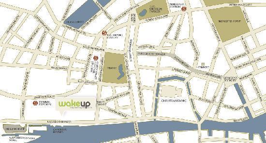 เวคอัพ โคเปนเฮเก้น โฮเต็ล: Map