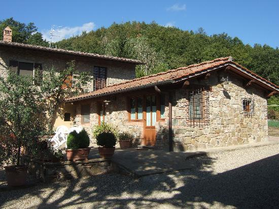 Agriturismo Podere Casa Nova: Our cottage with patio (excludes back building)