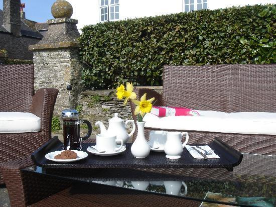 Strete Barton House: Tea and Cake served in the Garden