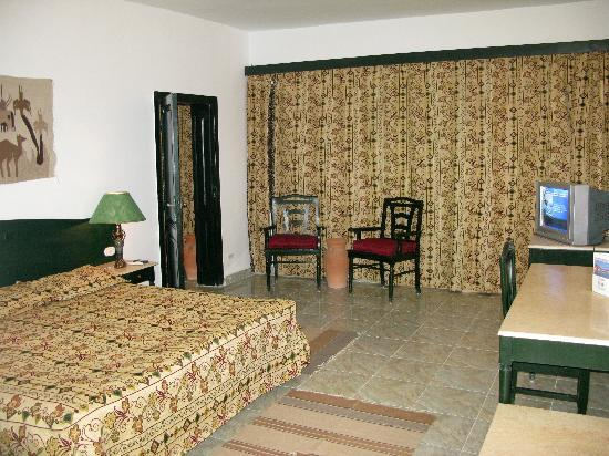 The bedroom of a Swisscare Nuweiba Resort Hotel suite