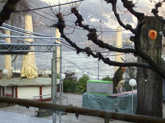 Hotel Ebertor: View of Rhine from my table