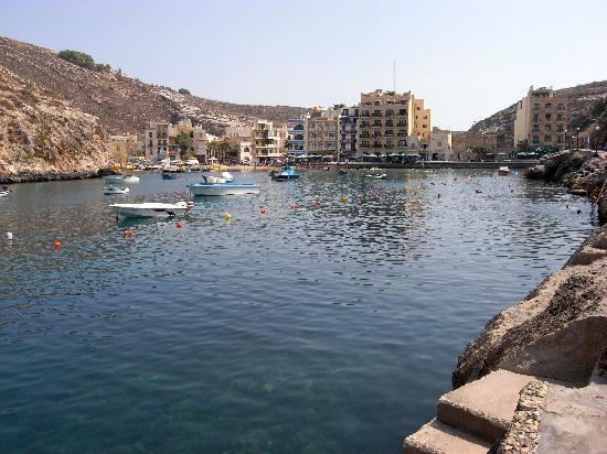 Xlendi, Malta: View of the front