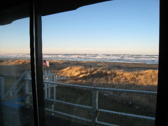 Moclips, WA: View through our sliding glass door