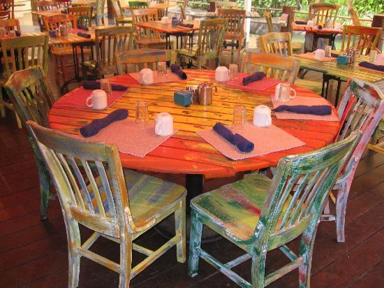 Colorful Tables Chairs At The Laguna Picture Of Aruba Caribbean Tripadvisor