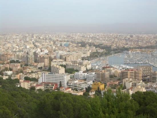 Playa de Palma, Spain: A view of Palma from the Castle