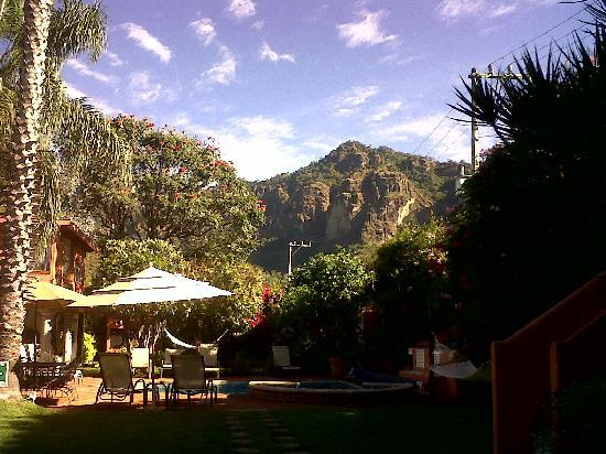 Tepoztlan, Meksiko: vista desde el restaurante =D