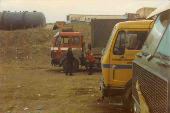 Gurbulak, Tyrkia: Warten bis Zollamt wieder öffnet. Grenze Türkei/Gürbulak - Iran/Bazargan