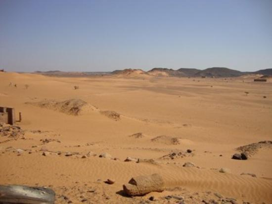 Shendi, Νότιο Σουδάν: arrived in the desert.