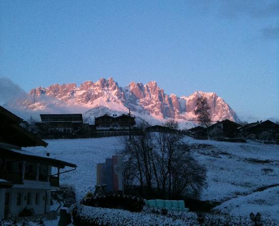 Going, Austria: Wilder Kaiser bei Abendsonne