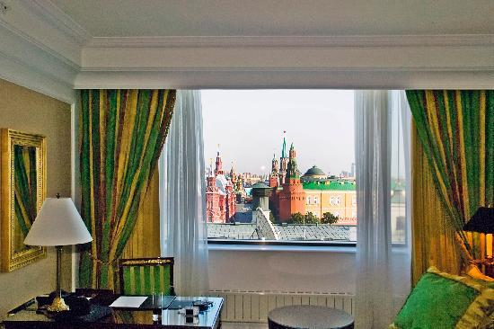 The Ritz-Carlton, Moscow: Room 1007 and view of Red Square